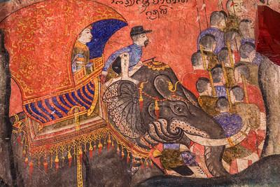 Elephant, Temple Mural, Nan