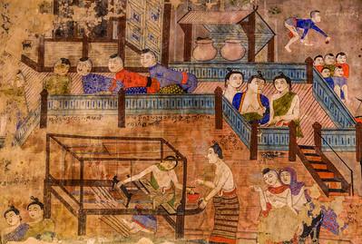 Weaver, Temple Mural, Nan