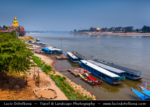 Thailand - Chiang Rai - Golden Triangle - Triangle where 3 countries meet on the confluence of the Ruak and Mekong rivers