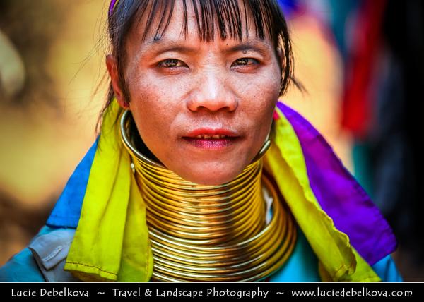 Thailand - Chiang Mai - Long Neck Karen Hilltribe - Long Neck Woman