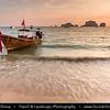 Thailand - Krabi - Railay Beach - Small peninsula with white sand beaches, soaring limestone cliffs & caves on shores of Andaman Sea