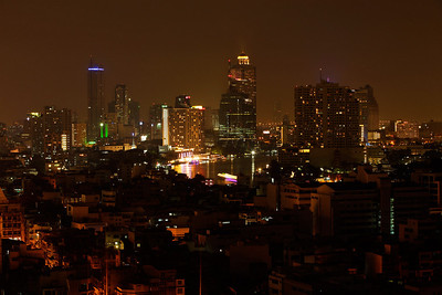 Bangkok, Thailand Bangkok at night.