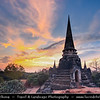 Thailand - Ayutthaya - Ancient capital city of Kingdom of Siam - Ayutthaya Historical Park - Archaeological site with palaces, Buddhist temples, monasteries & statues - Wat Phra Si Sanphet - Holiest, grandest & most beautiful temple