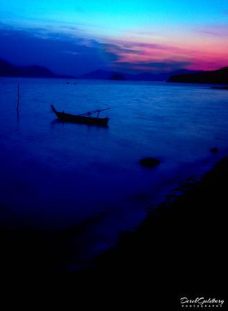 Row Boat at Dusk #3 - Phuket, Thailand