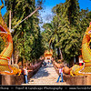 Thailand - Chiang Rai - Golden Triangle - Wat Phra Kaew - Royal Temple in Chiang Rai and one of the oldest in the city - Temple where the Emerald Buddha was discovered