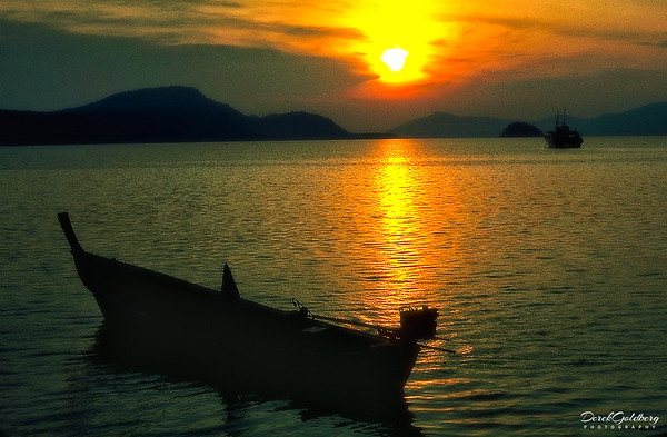 Row Boat at Sunset #9 - Phuket, Thailand