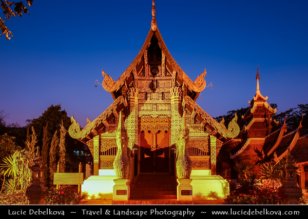 Thailand - Chiang Mai - Wat Chedi Luang Varavihara - Buddhist temple in town historic centre - Built in 1441, with a stupa reaching height of 82-meters