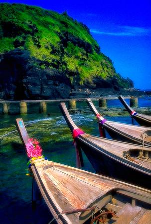 Boats off Phuket Island #3, Phuket, Thailand