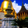 Phra Siratana Chedi, Royal Grand Palace Grounds View #2 - Bangkok, Thailand