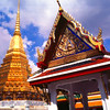 Outside-Prasat-Phra-Dhepbidorn, Royal Grand Palace Grounds View #9 - Bangkok, Thailand