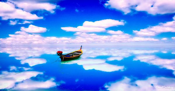 Boat Against Reflected Sky - Phuket, Thailand