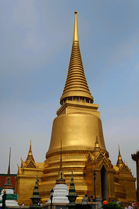 Bangkok, Thailand Phra Si Rattana Chedi at the Grand Palace in Bangkok.