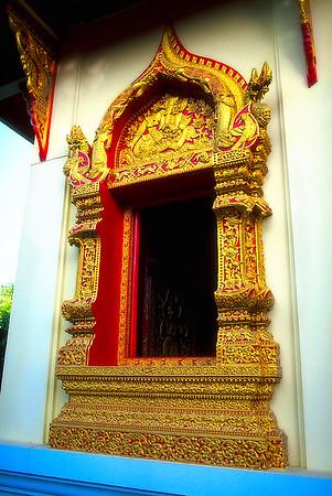 Gold Window #1, Wat-Phan-On - Chiang Mai, Thailand