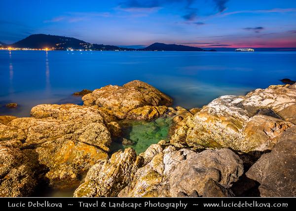 Thailand - Phuket Island - Patong Beach - Tropical beach resort town facing Andaman Sea with sandy shores