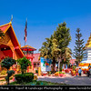 Thailand - Chiang Rai - Golden Triangle - Wat Phrathat Doi Jom Thong - Wat Phra That Doi Chom Thong - Historic Buddhist temple with a golden pagoda, known for containing relics of Buddha