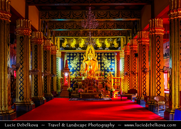 Thailand - Chiang Mai - Wat Phan On - One of the smaller Buddhist temples in old walled city - built in 1501 during the reign of Lanna King Mueang Kaeo