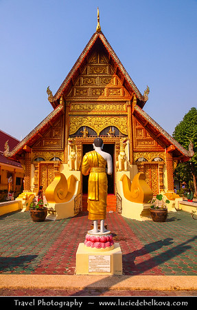 Thailand - Chiang Rai - Golden Triangle - Wat Phra Singha - One of Chiang Rai's oldest temples