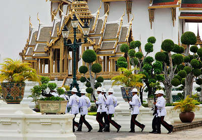 Bangkok, Thailand Changing of the Guard at the Grand Palace.