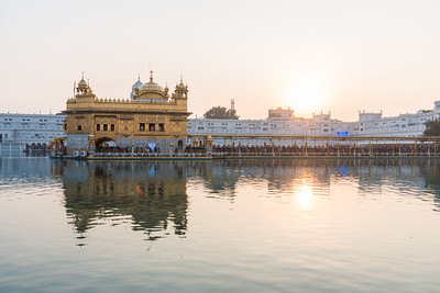 January 2018 - Sunset at The Golden Temple in Amritsar, India.