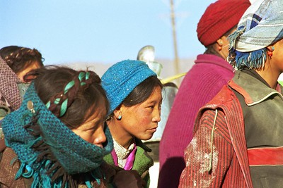 Tibetan women at the local well