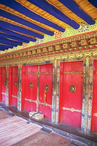 Vibrant colors at the entrance to a monastery