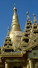 Part of the beautiful Shwedagon Pagoda. Yangon