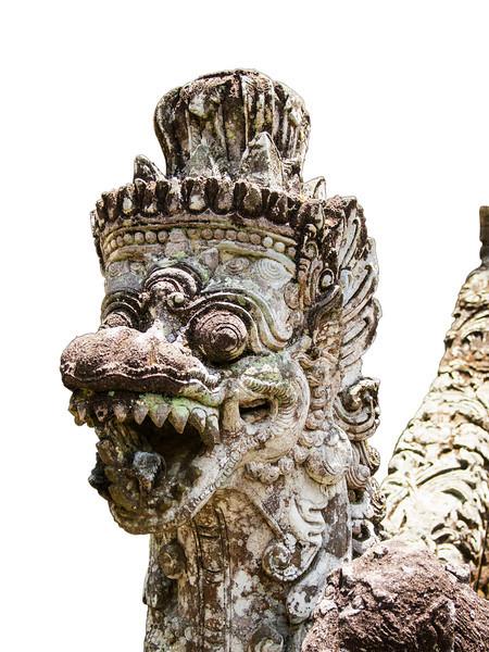 Stone Temple Guardian On Bali