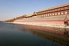 A view of the Forbidden City in Beijing over one of the moats or canals that isolated the palace from the rest of the city.