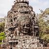 Face Detail At Bayon Temple