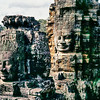 Faces On The Bayon Temple Towers