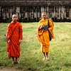 Two Monks At Angkor Wat