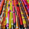 Bolts Of Colorful Cloth