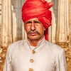 Man With Red Turban In Jaipur