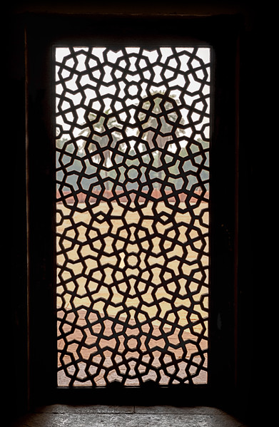 Window Screen At Hiumayan's Tomb