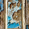 Peeling Wall Paint In A Frame