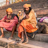 Two Sadhus In Rishikesh
