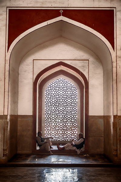 Two Men In Humayan's Tomb