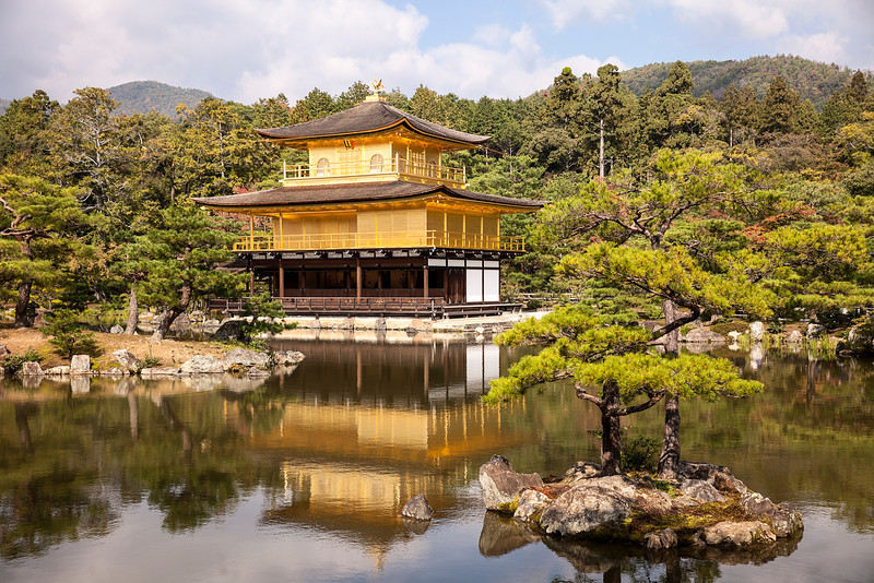 Golden Pavilion At Rokuonji