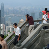 On Victoria Peak looking over the city.