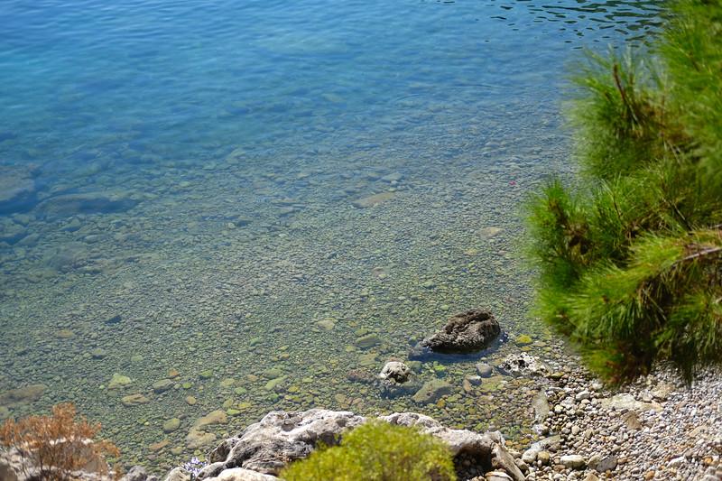Crystal clear Mediterranean waters. September 2019.