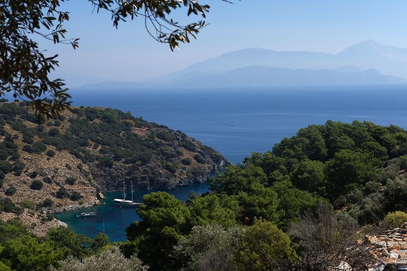 Hike views of Turkey's coastline. September 2019.