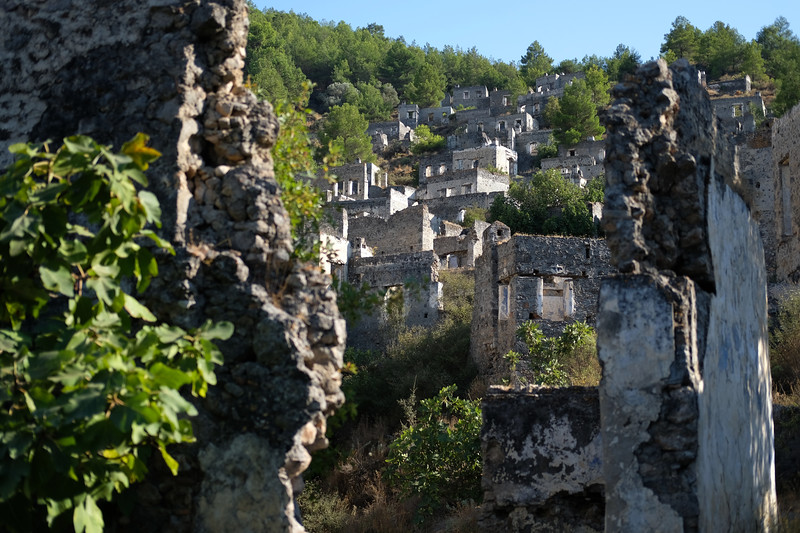 Kayakoy ghost village - An abandoned village dating back to the 14th century near Oludeniz. September 2019.