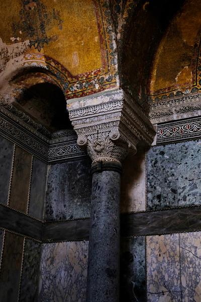Details in the Hagia Sophia. Istanbul, August 2019.