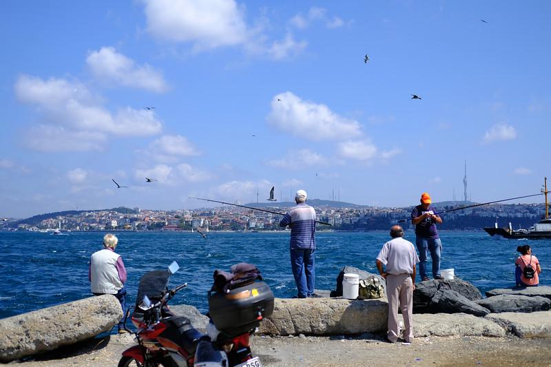Fishermen. Istanbul, August 2019.