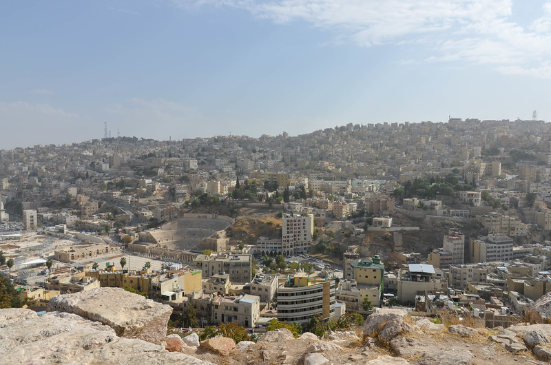 Amman and the Roman Theatre, as seen from the Citadel.
