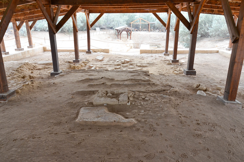Ruins of a Byzantine church at the baptism site at Bethany Beyond the Jordan.