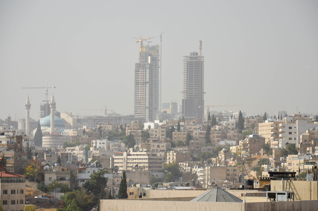 The city of Amman, as seen from the Citadel complex.