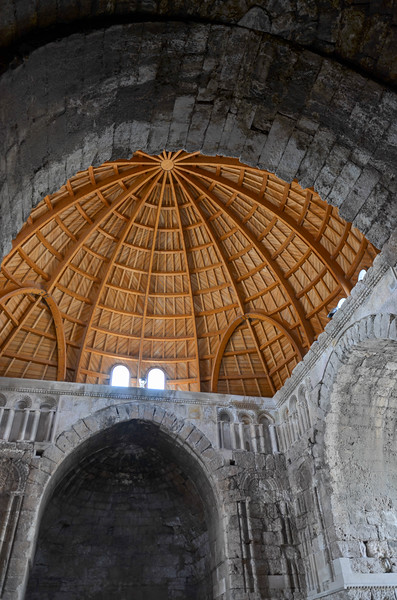 Inside the Umayyad Palace Gateway.