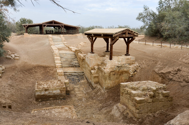 The site of Jesus's baptism at Bethany Beyond the Jordan.