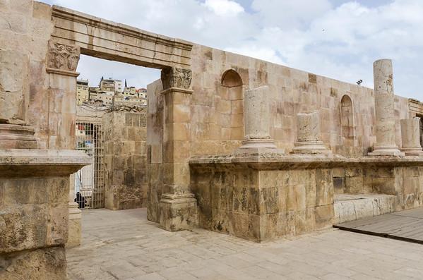 Inside the Roman Theatre in Amman.